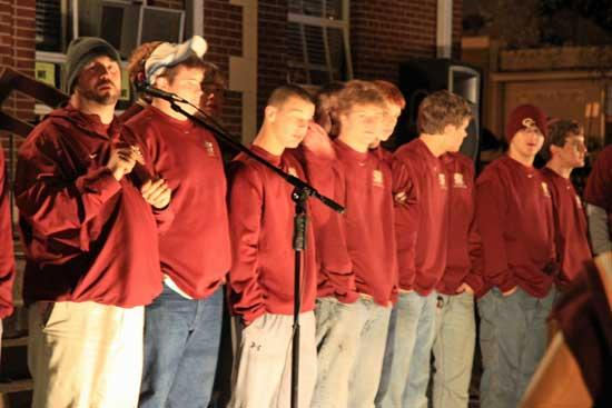 Pep Rally Urges Lions To Scalp Indians