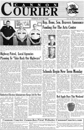 The Cannon Courier for July 28, 2009