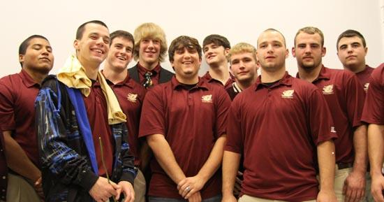 Football Lions Honored For Super Season