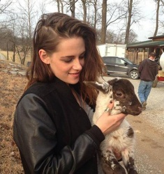 Actress Kristen Stewart films at Short Mt.