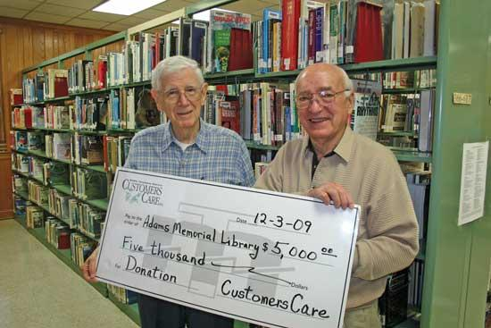 MTE Customers Care Donates $5,000 To Adams Memorial Library