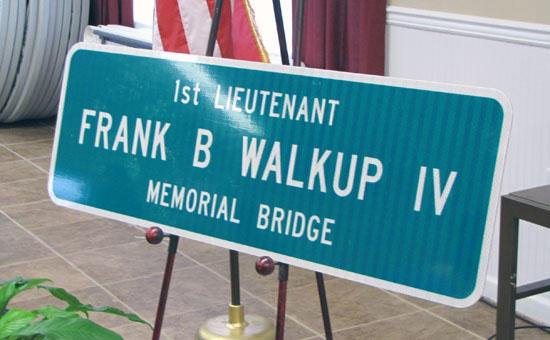 Bridge Of Honor: Walkup Saluted By County And State