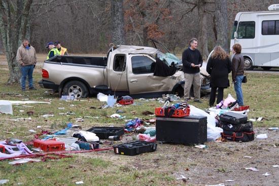 Car Overturns On Jim Cummings Highway