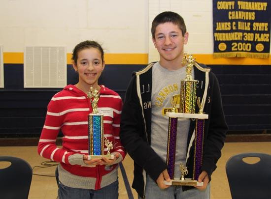 Hoskins Siblings Place 1st And 2nd In County Spelling Bee
