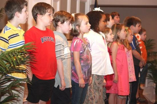 First Baptist Church Choirs Give Easter Presentation