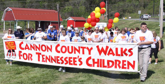 First Lady Walks For Cannon County's Children
