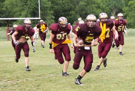 Lions Play Maroon And Gold Game