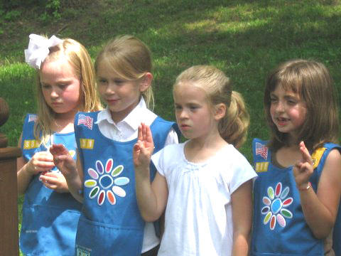 Girl Scout Troop 331 Holds Bridging Ceremony