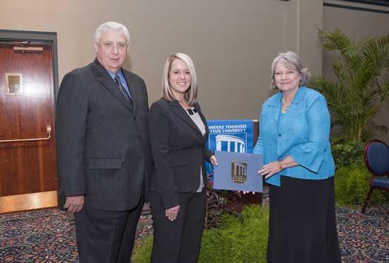 Parton Receives Two MTSU Accounting Alumni Awards