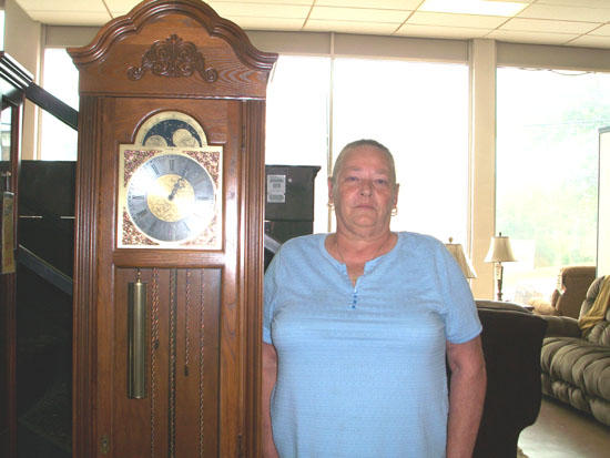 Grand Time: Kirby Winner Of Paul L. Reed Furniture Co. Clock