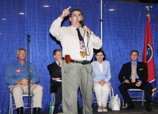 Tea Party Democrat Stirs Pot At Forum