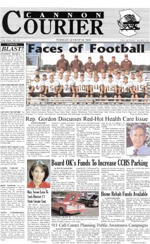 The Cannon Courier for August 18, 2009