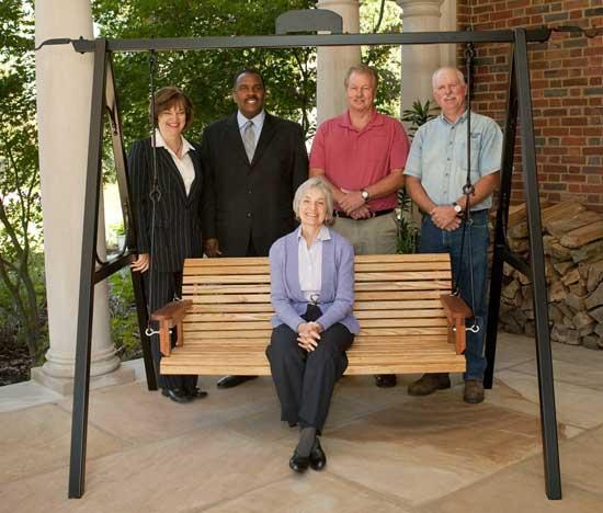 Swing Made Of Rare Wood Presented To Executive Residence