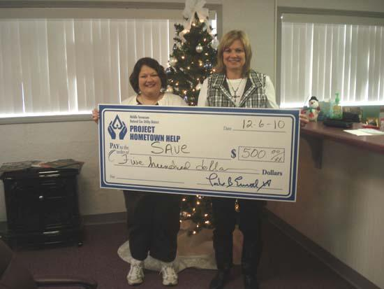Middle Tennessee Natural Gas Donates To SAVE