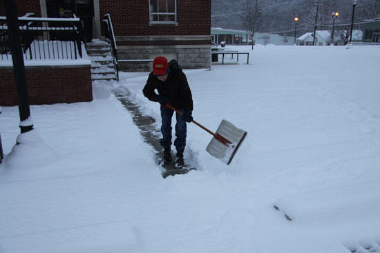 Digging Out In Downtown Woodbury