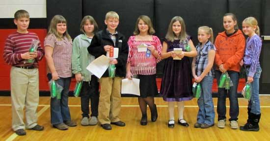 Cannon County 4-H Contest Public Speaking Winners, Participants