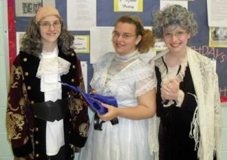 Ben Franklin Visits Auburn School