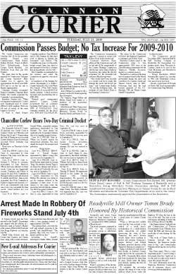 The Cannon Courier for July 21, 2009