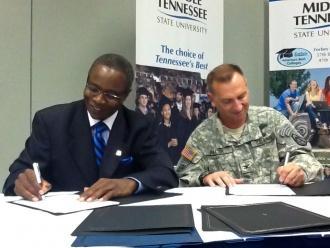 MTSU, U.S. Army Enter Unique Partnership