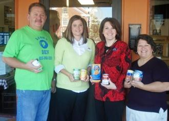 Banks Compete To Collect For Food Bank