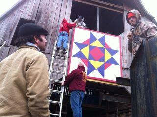 Barn Quilt Hung At Short Mountain Distillery