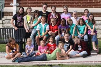 Girl Scouts Bury Time Capsule At Courthouse