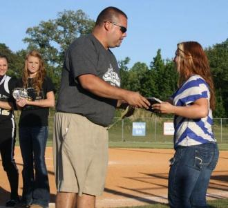 CCHS Softball Players Receive Awards