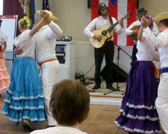 Folkfest Performers Visit Senior Center