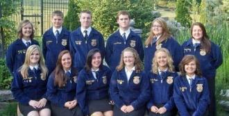 2012-2013 Woodbury FFA Officer Team