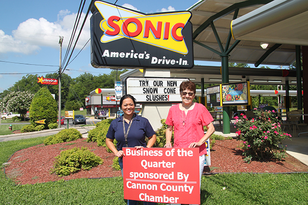 Sonic Drive-in selected as Chamber's Business of the Quarter