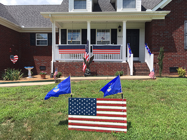 Decorated for the Fourth of July