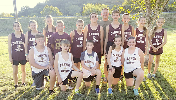 Middle school cross country team