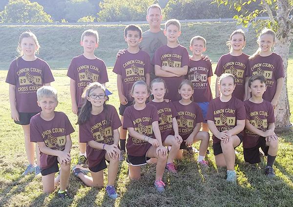 Elementary school cross country team