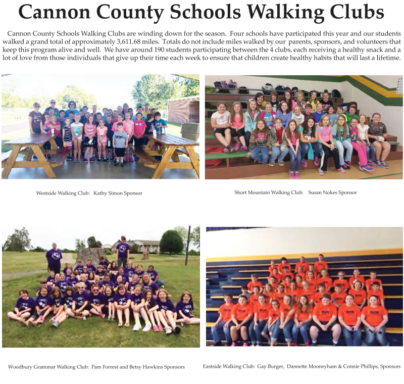 School walking clubs