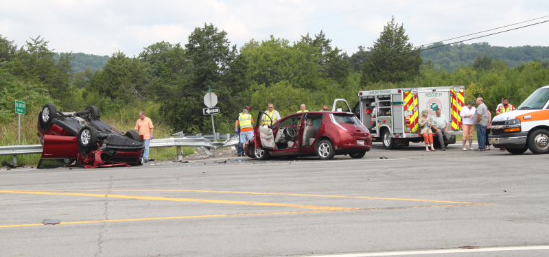 Two vehicles collide on John Bragg Hwy.