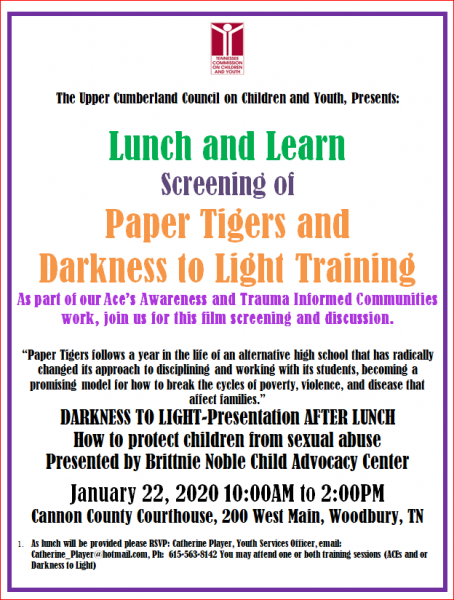 Register Now For Darkness To Light Presentation