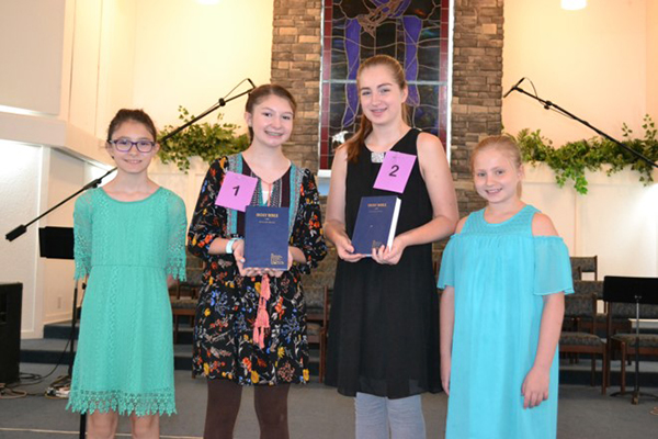 State Bible Drill competitors