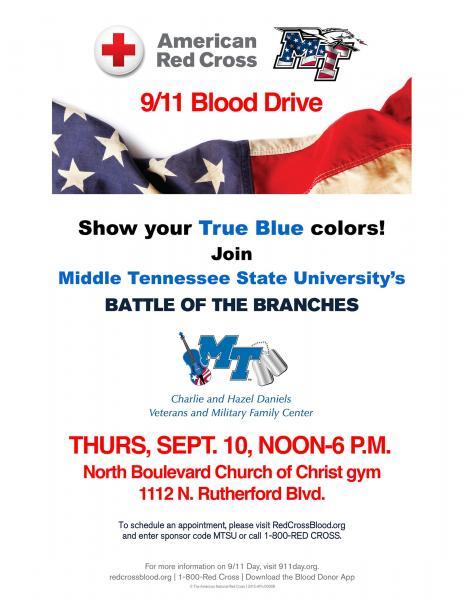 MTSU, WKU Blood Drive Rivalry Renews September 10