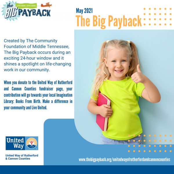 United Way Of Rutherford and Cannon Counties In Big Payback