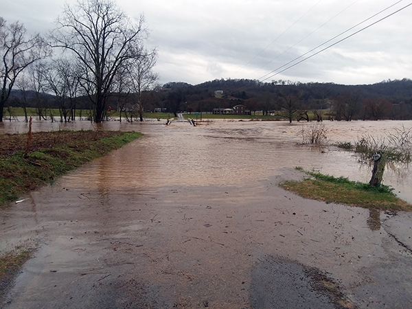 Flooding across Cannon County