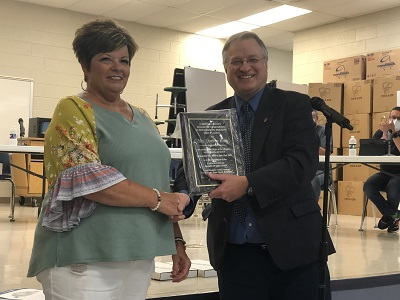 Jennings and Witty Recognized At School Board Meeting
