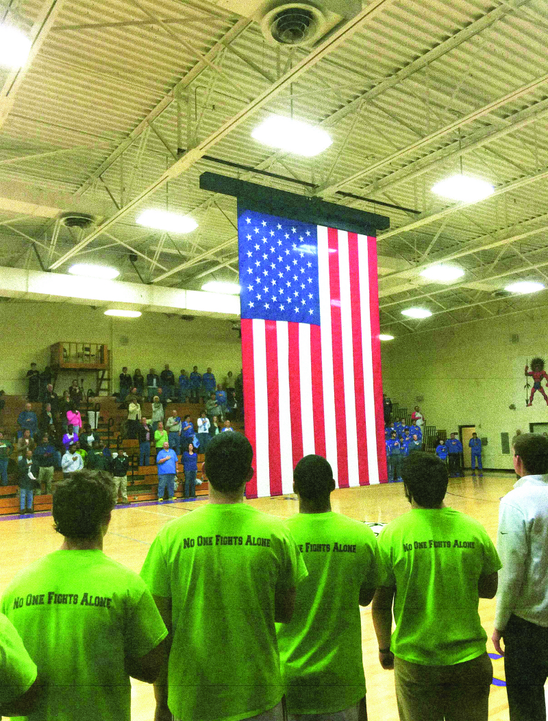 Huff & Puff to present flag