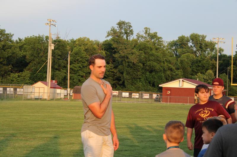 NFL Kicker Ryan Succop Visits High School