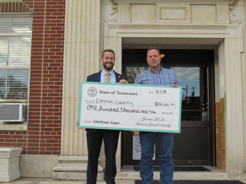 Representative Boyd Presents $100,000 Check To County Executive