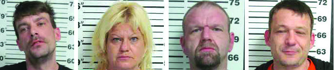 Four arrested in multi-county bust