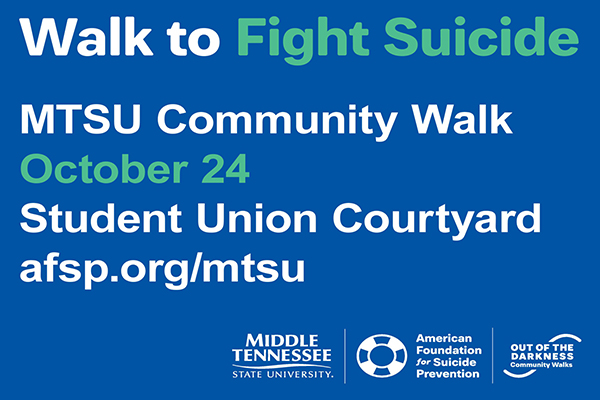 MTSU raises awareness, hope for suicide prevention