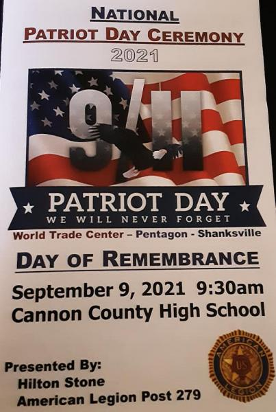 Patriot Ceremony This Morning At CCHS