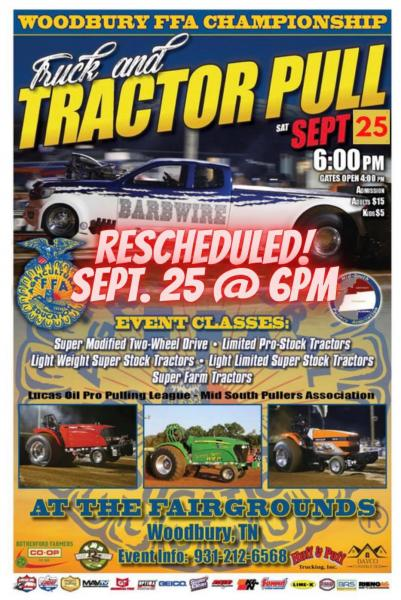 Truck And Tractor Pull Rescheduled For This Saturday