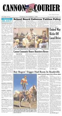 The Cannon Courier for 11-17-2009