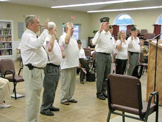American Legion Officers Take Oath